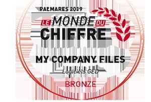 palmares mycompanyfiles 2019 catégorie bronze logiciels GED